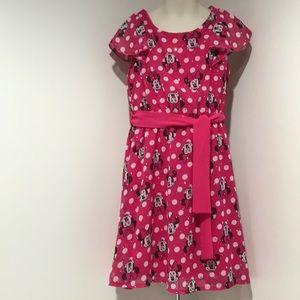 Disney Size S (6/6x) Minnie Mouse Pink Dress